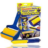 Валик для уборки липкий Sticky Buddy (Yellow Blue)   Многоразовый валик для чистки одежды