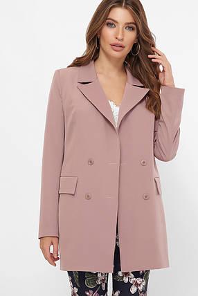 Женский пиджак ниже бедра двубортный электрик 42-50, фото 2