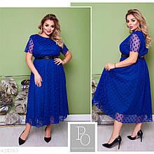 Стильное нарядное платье батал большие размеры 50 52 54 56 58 60