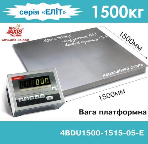 Весы платформенные складские 4BDU1500-1515-Е, фото 2