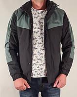 Мужская стильная осенняя куртка на манжете