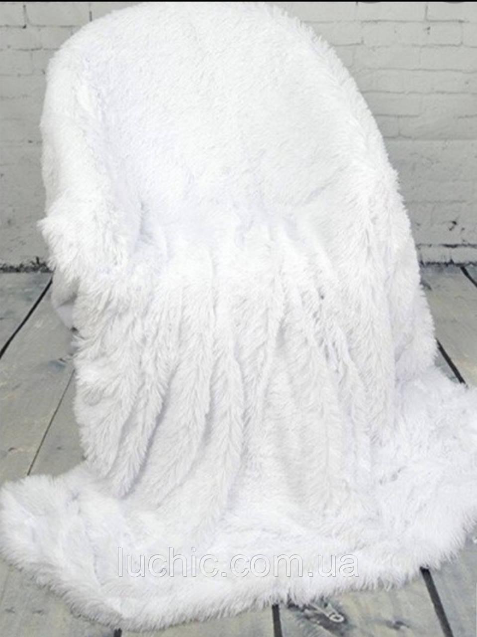 """Плед-покривала травичка """"лапша"""" довгий ворс євро розмір 220х240"""