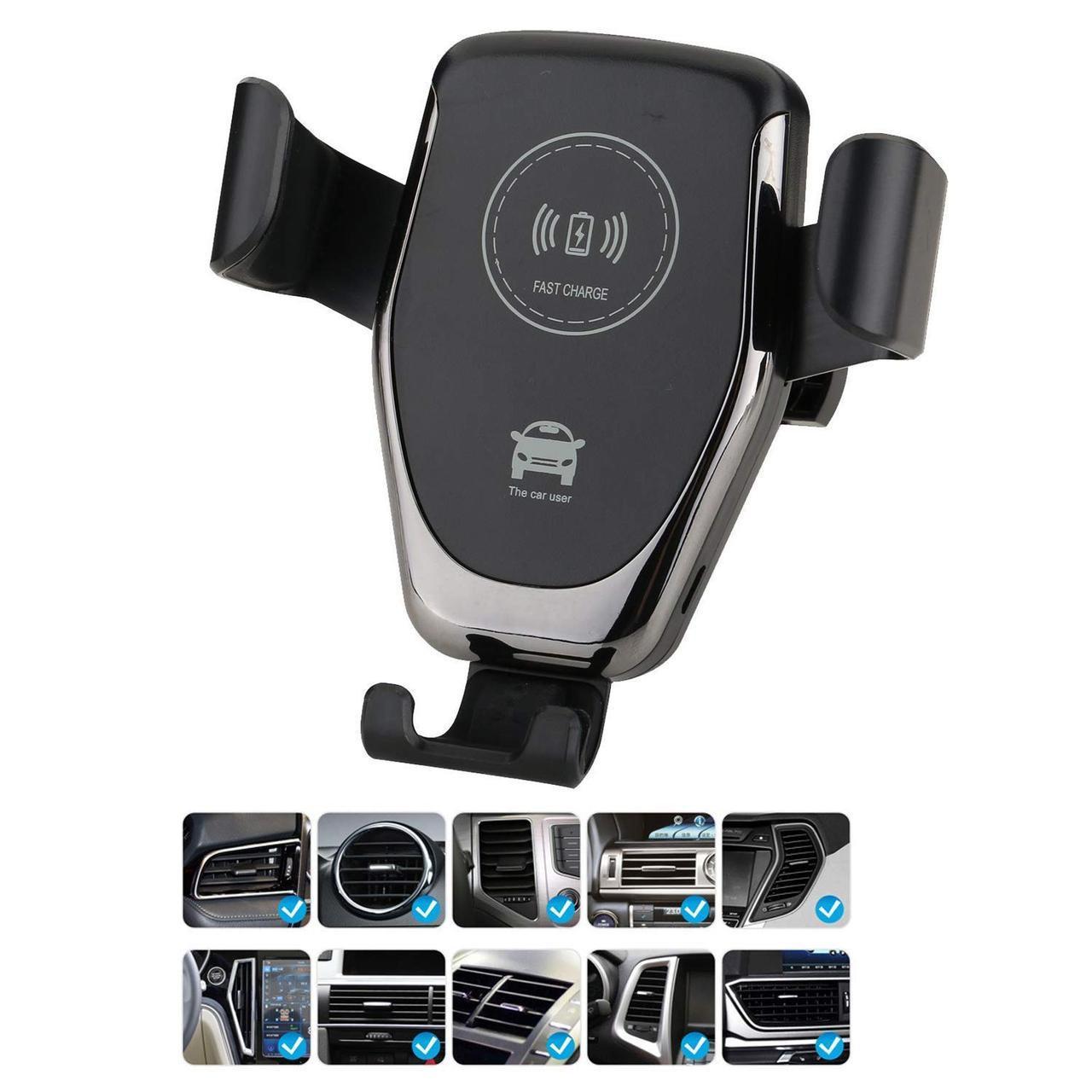 Держатель для мобильного телефона с беспроводной зарядкой HZ HWC1 на воздуховод и торпедо (5371) #S/O