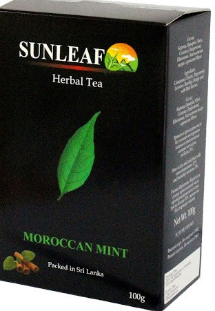 Чай зелений ( заварний) SUNLEAF мароканская м'ята 100 грам