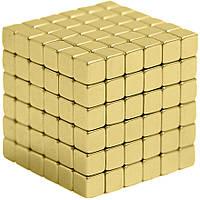 Неокуб квадратный Neocube 216 кубиков 5мм в металлическом боксе (Золотой) #S/O