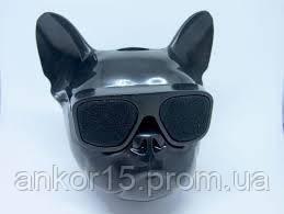 Аудіо-колонка голова собаки в окулярах бульдог (Bluetooth)