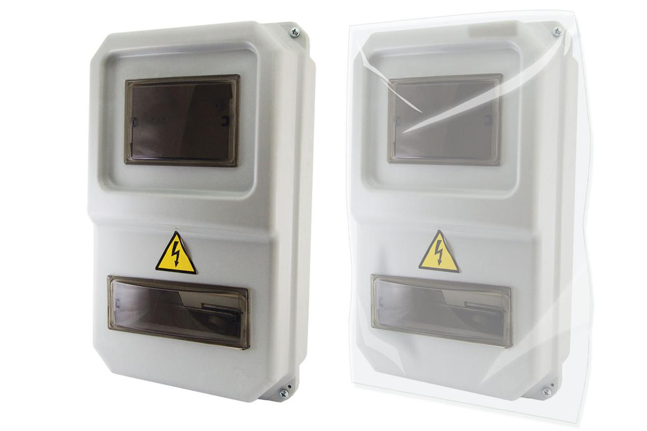 Щит обліку ЩУРН-П-1ф-8 (383х234х119) пластик IP54 TDM