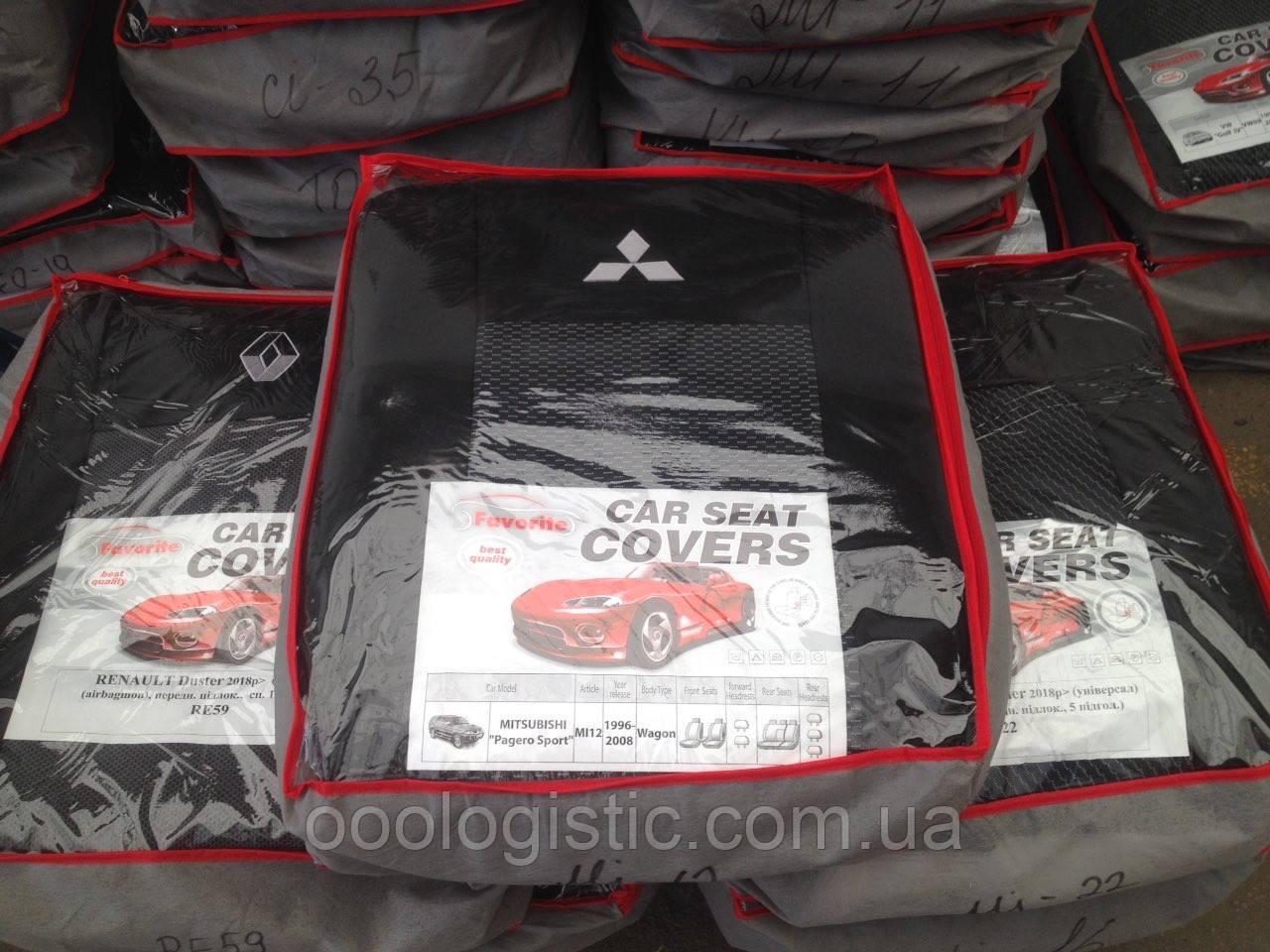 Авточохли Favorite на Mitsubishi Pagero Sport wagon 1996-2008