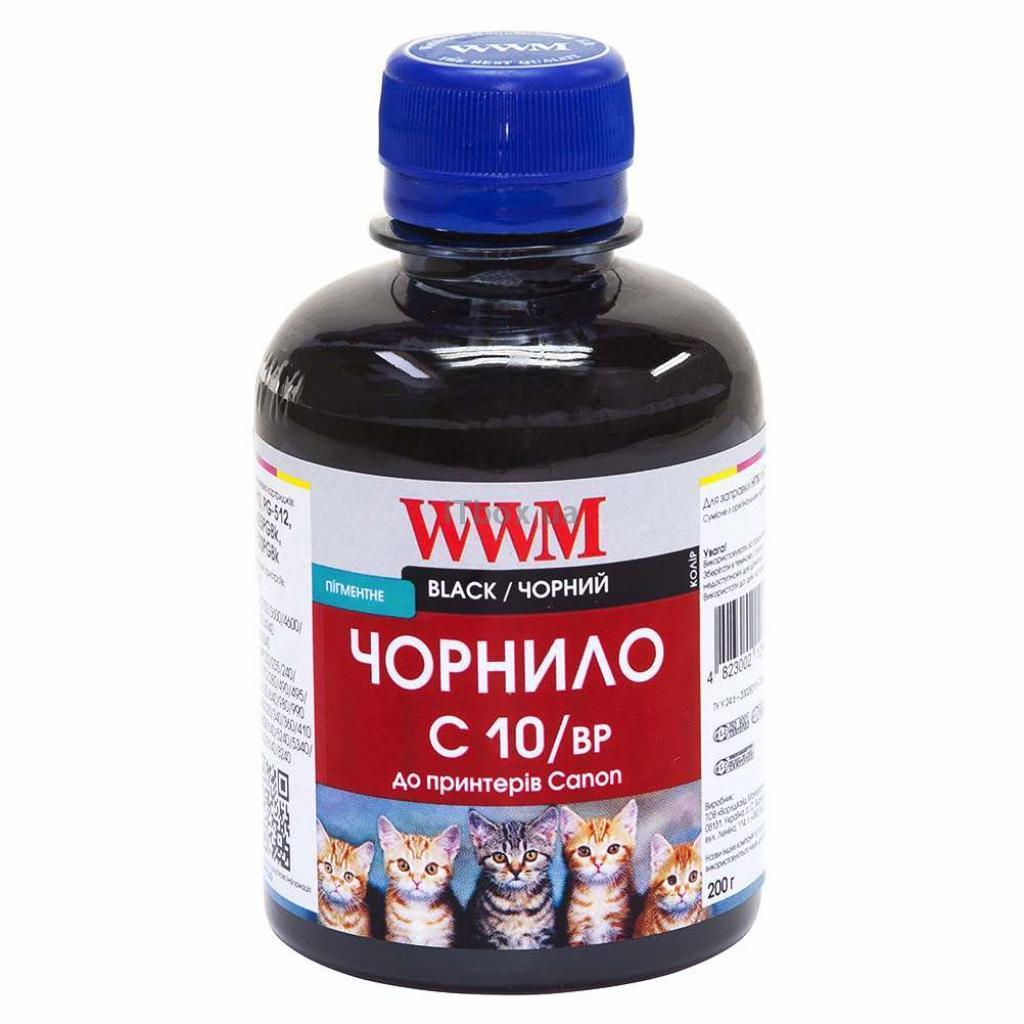 Чорнило WWM CANON PG510/512/PGI520Bk/PGI425PGBk (Black Pigment) 200г (C10/BP)