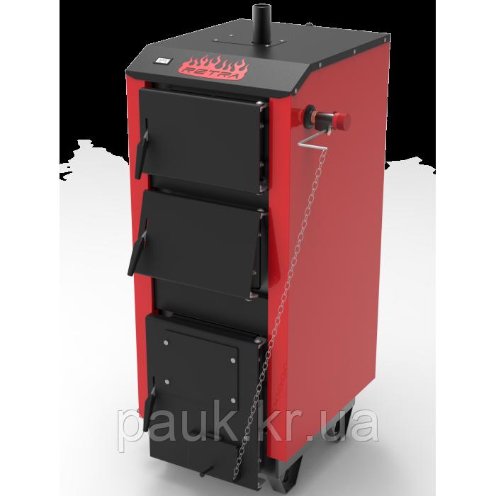 Котел на твердом топливе 32 кВт Ретра-5М Classic, энергонезависимый(механический регулятор тяги)