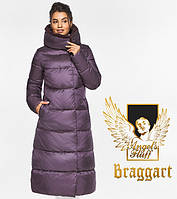 Воздуховик Braggart Angel's Fluff 45085| Теплая женская куртка цвета баклажан, фото 1