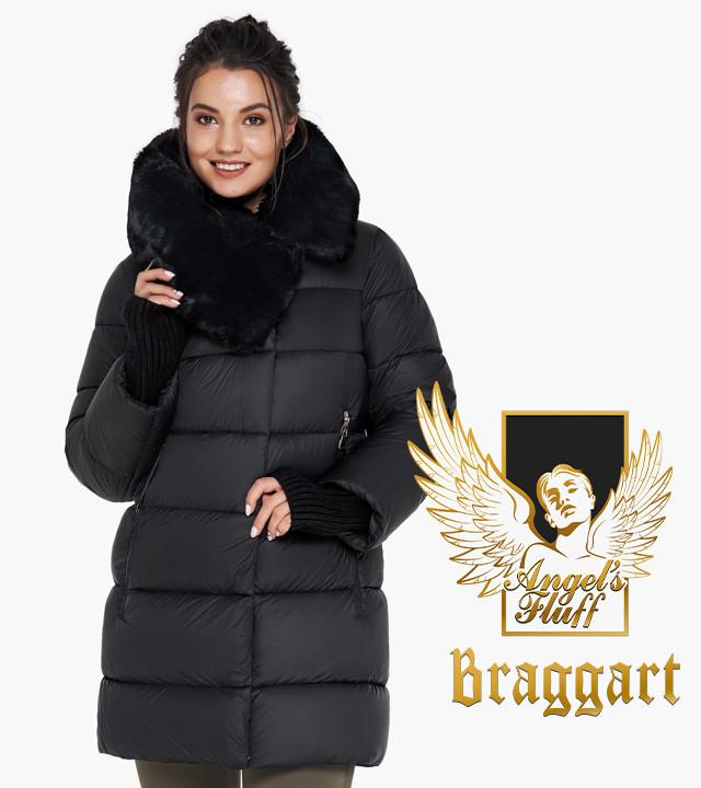 Воздуховик Braggart Angel's Fluff 31027  Теплая женская куртка черная