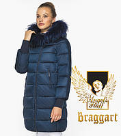 Воздуховик Braggart Angel's Fluff 42150| Сапфировая куртка качественная женская на зиму