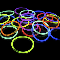 Светящиеся браслеты super 100 шт