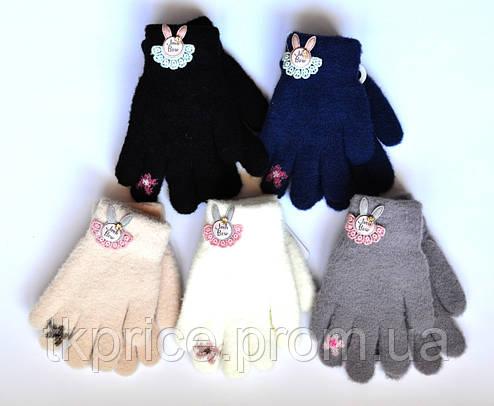 Детские двойные перчатки для девочки - длина 14 см, фото 2