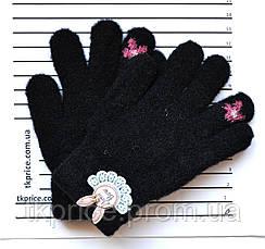 Детские двойные перчатки для девочки - длина 14 см, фото 3