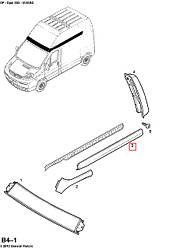 Молдинг правий задній (верхній, високий дах) на Opel Vivaro 01-> — Opel (оригінал) - 4412057