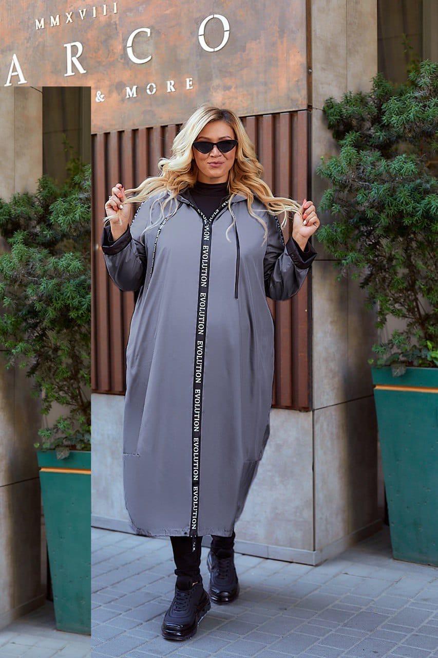 Женская осенняя ветровка куртка плащ ткань плащевка+подкладка  размер: 52-54,56-58,60-62,64-66