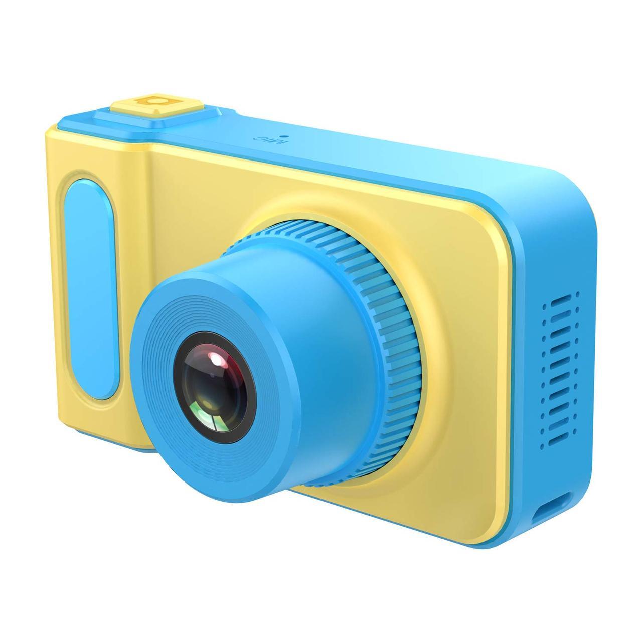 Дропшиппинг. Цифровой детский фотоаппарат голубой Summer Vacation Smart Kids Camera Фото и Видеосъёмка