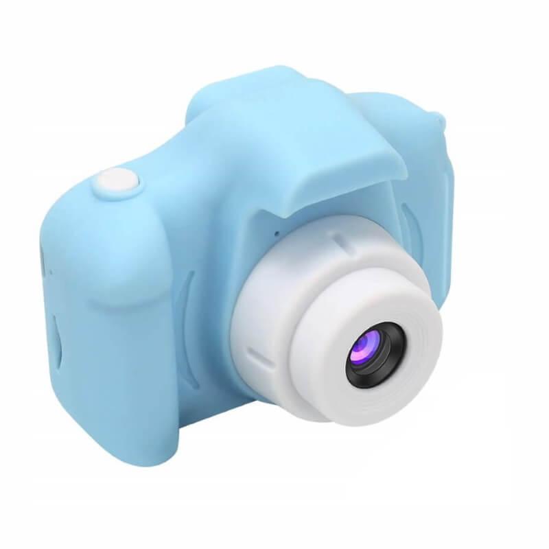 Дропшиппинг. Цифровой детский фотоаппарат голубой Summer Vacation Smart Kids Camera для Фото и Видеосъёмки