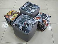 Пуфик куб размер 40*40*40 см ткань оксфорд + флок, с внутренним чехлом