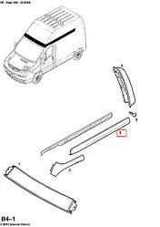 Молдинг задній лівий (верхній, високий дах) на Opel Vivaro 2001-> — Opel (оригінал) - 4412060