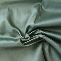 Сатин Люкс темно-зелений горошок, ширина 240 см