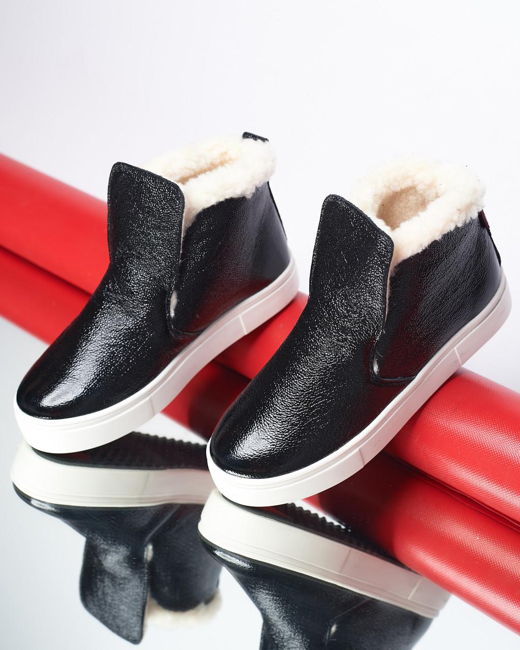 Зимние кожаные ботинки Ankle slip (разные цвета)