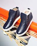 Зимние кожаные ботинки Ankle slip (разные цвета), фото 6