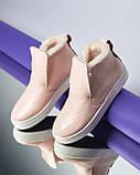 Зимние кожаные ботинки Ankle slip (разные цвета), фото 8