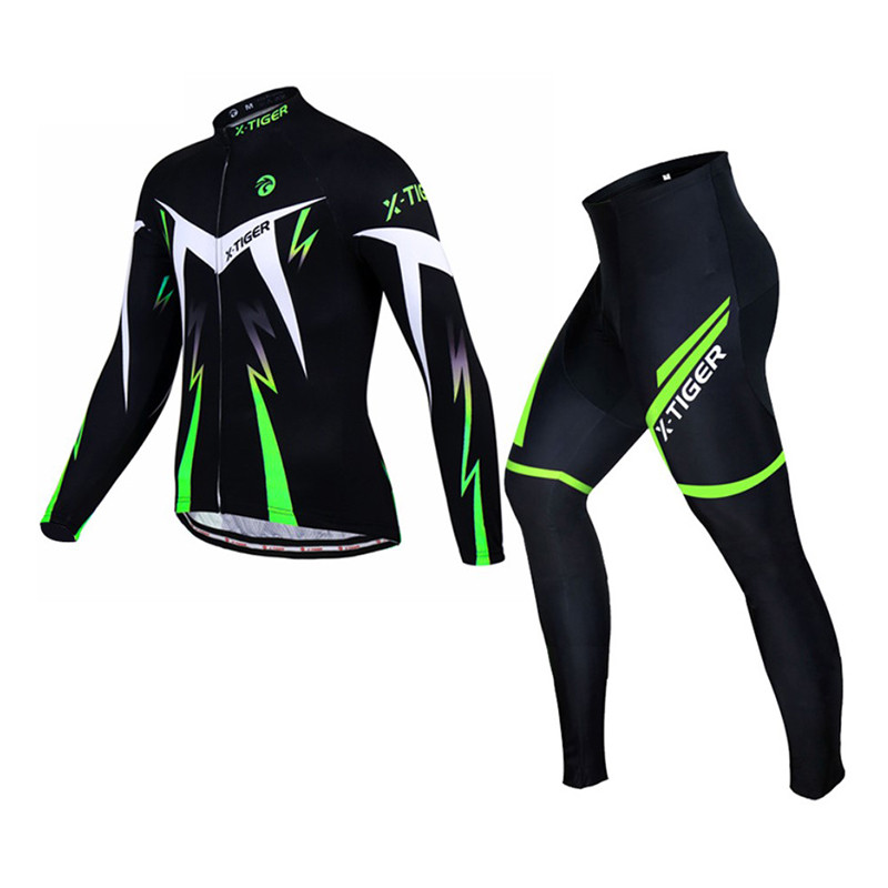 Костюм вело X-Тiger XM-CT-01302 Trousers Green L кофта с длинным рукавом штаны