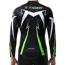 Костюм вело X-Тiger XM-CT-01302 Trousers Green L кофта с длинным рукавом штаны, фото 3