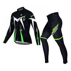 Велокостюм для чоловіків X-Тідег XM-CT-013 Trousers Green 3XL кофта з довгим рукавом + штани велоодяг
