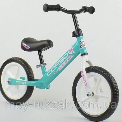 """Велобег детский """"CORSO"""",колеса EVA 12 дюймов, 17008, голубой, фото 2"""