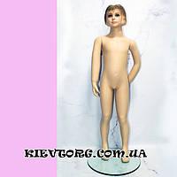 Манекен детский реалистичный девочка (телесный, с лицом) для магазина одежды, 120 см