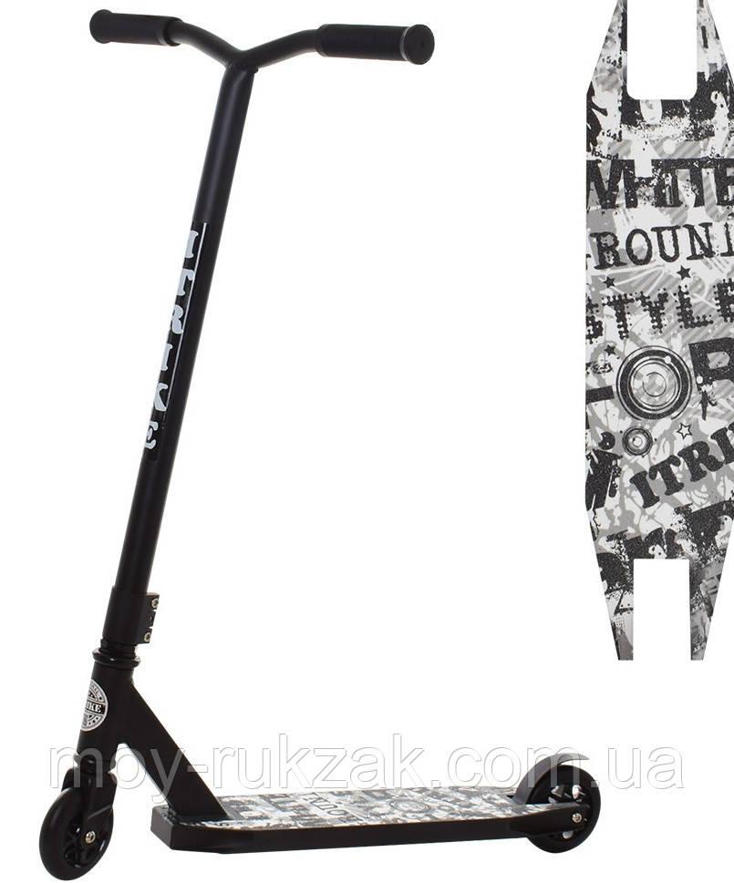 Самокат трюковый iTrike SR 2-052-A-T7-B, черный