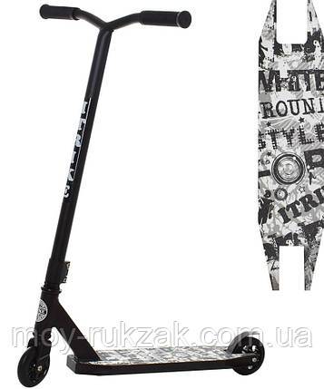 Самокат трюковый iTrike SR 2-052-A-T7-B, черный, фото 2