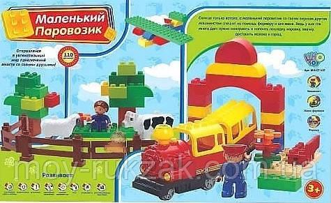 """Конструктор Железная дорога """"Маленький паровозик"""", 110 дет., LimoToy, M0437, фото 2"""