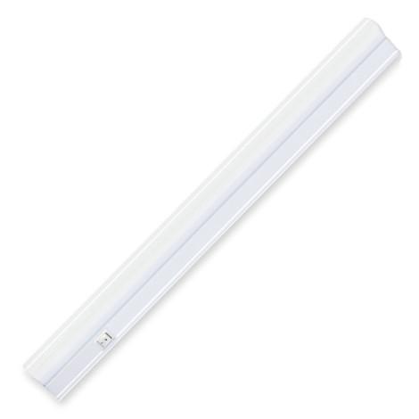 Линейный светодиодный светильник SIGMA-4 4W Т5 матовый 4200К 282мм 220V с выкл. Код.58086