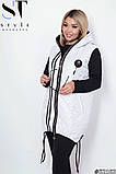 Женская жилетка с капюшоном плащевка стеганная синтепон 100 размер:48-50,52-54,56-58,60-62, фото 3