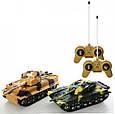 """Детская игра танковый бой """"Kronos Toys"""" 369-23 на радиоуправлении с световыми эффектами аккумулятор 4.8 V, фото 3"""