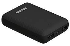 УМБ Power Bank (зовнішній акумулятор) для телефону 2Е 2xUSB 10000 мАг Чорний (2E-PB1006AS-BLACK), фото 2