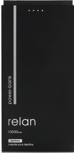 УМБ REMAX Relan 10000 мАг 2xUSB Чорний (RPP-65-BLACK)