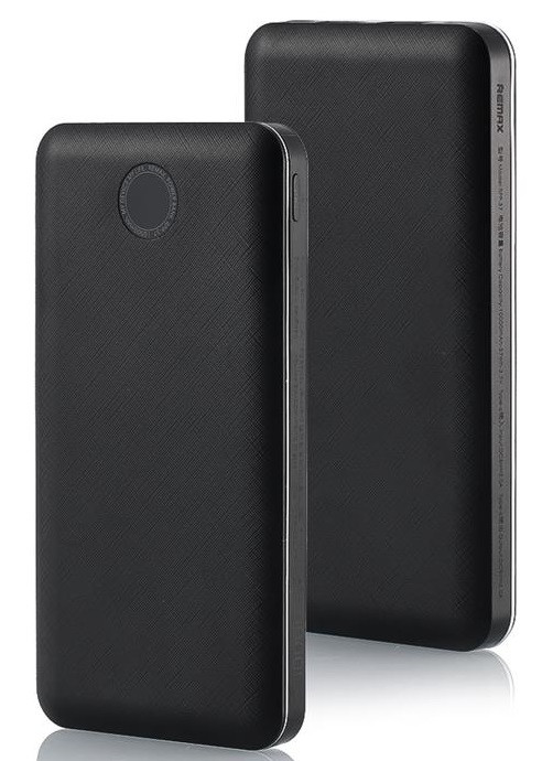 УМБ Power Bank (внешний аккумулятор) для телефона REMAX 10000 мАч Черный (PPP-37-BLACK)