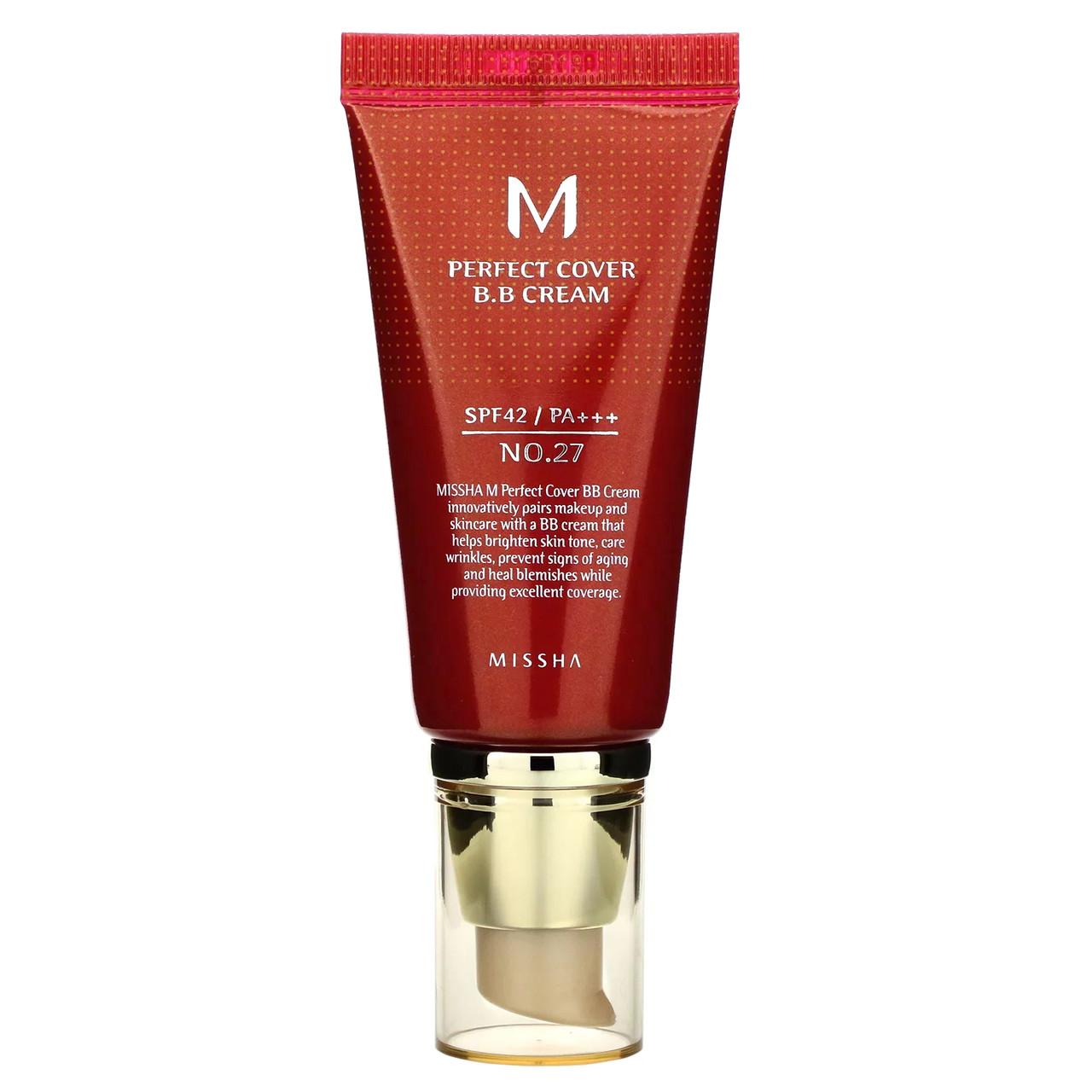 ВВ крем MISSHA M Perfect Cover BB Cream (SPF42/PA+++) #27 Honey Beige, 50 мл