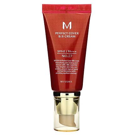 ВВ крем MISSHA M Perfect Cover BB Cream (SPF42/PA+++) #27 Honey Beige, 50 мл, фото 2