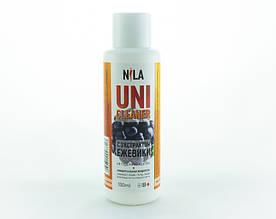 """Жидкость для снятия гель лака """"Ежевика"""" Nila Uni-Cleaner 100 мл."""