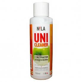 """Жидкость для снятия гель лака """"Яблоко"""" Nila Uni-Cleaner 100 мл."""