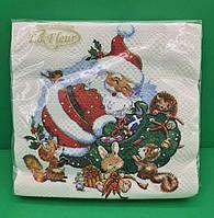 Серветки паперові до свят з малюнками (ЗЗхЗЗ, 20шт) La FleurНГ Час для подарунків(314) (1 пач)