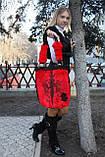 Мод 108. Сумка женская из стриженого меха кролика_цвет алый, фото 3
